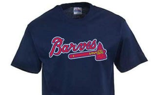 "Illustration for article titled Major League Baseball Swings And Misses Again, Shuts Down ""Atlanta Barves"" T-Shirt Operation"