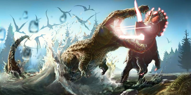 Illustration for article titled Laser Dinosaurs Prove That Nothing on the Internet Goes Extinct