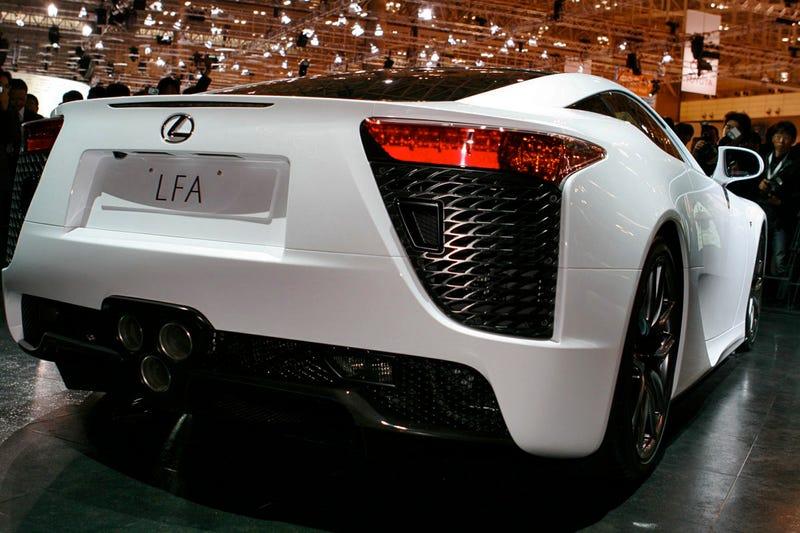 Illustration for article titled Lexus LFA: A $400,000 Fast-As-Spit Super Car