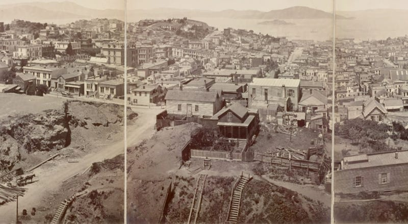 Illustration for article titled Futurism from 1878: A Panoramic Photograph of San Francisco