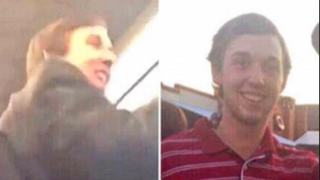 Parker Rice (in video image, left, and photo, right), identified as the conductor during the University of Oklahoma's Sigma Alpha Epsilon chapter's racist sing-along, was one of two students expelled as a result. Twitter
