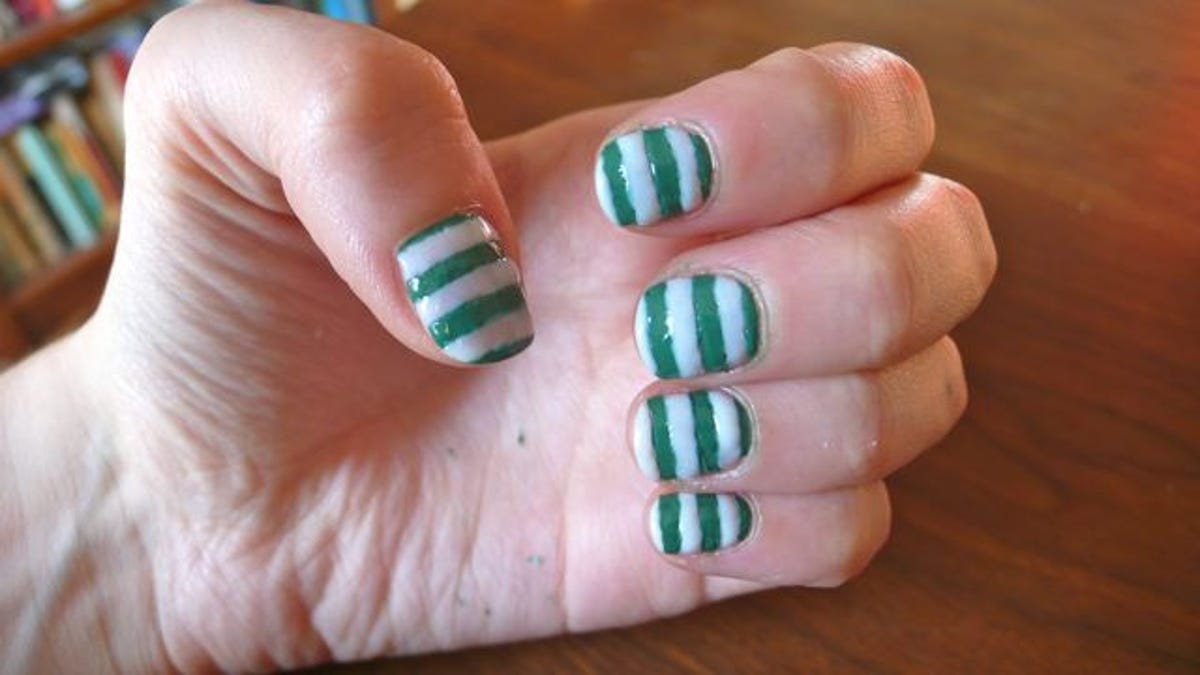How To Paint Your Nails With Stripes