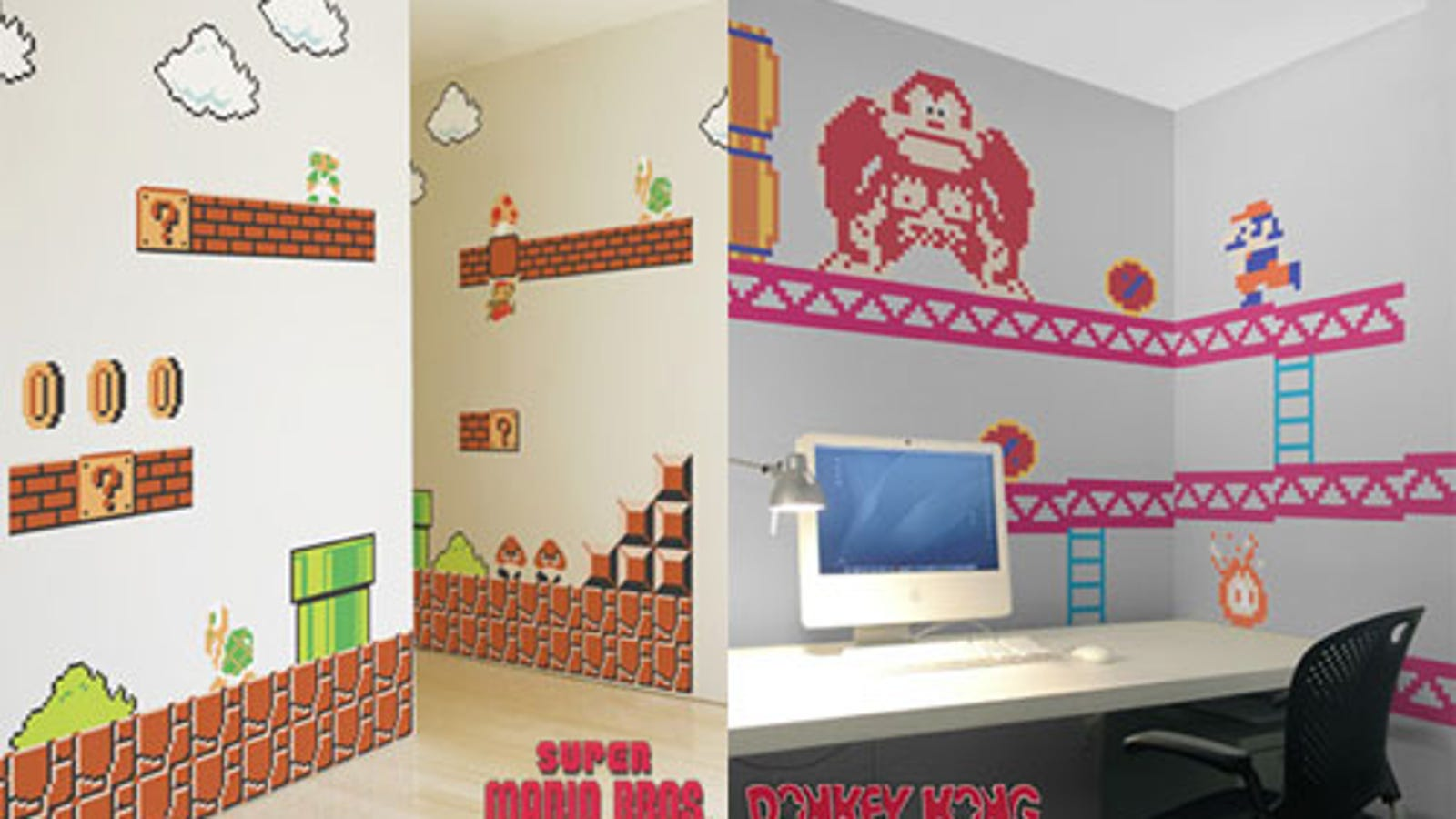 Make your nerdy house a nerdy home with mario donkey kong decals