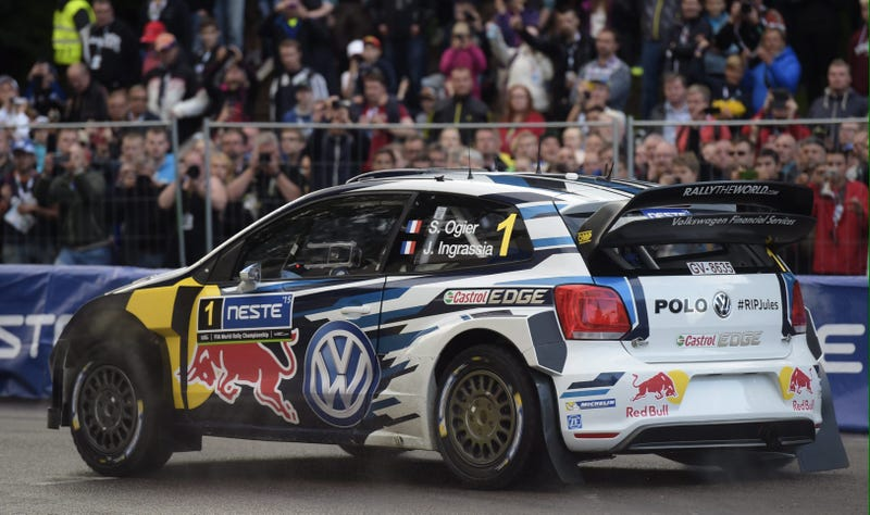 Illustration for article titled Sébastien Ogier Wins WRC Season Finale, Teammate Is First To Crash Out