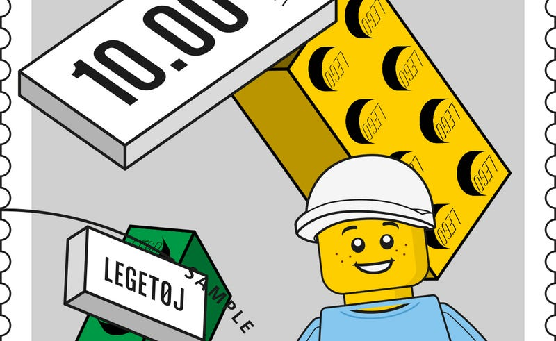 Illustration for article titled You can now stamp your (Danish) mail with Lego