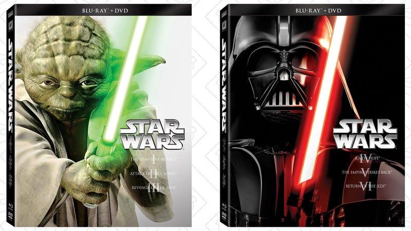 Star Wars Episodes I-III, $30 | Star Wars Episodes IV-VI, $30