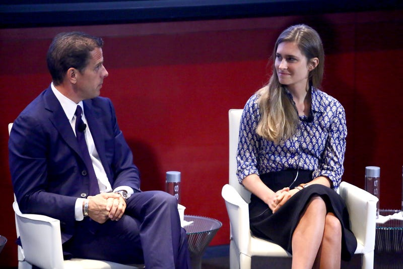 "Hunter Biden and Lauren Bush Lauren speak at the T&C Philanthropy Summit with a screening of ""Generosity Of Eye"" at Lincoln Center with Town & Country on May 28, 2014 in New York City."