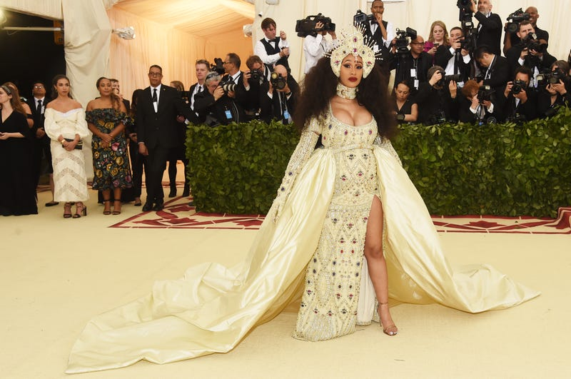 Cardi B attends the Heavenly Bodies: Fashion and the Catholic Imagination Costume Institute Gala at the Metropolitan Museum of Art on May 7, 2018, in New York City.
