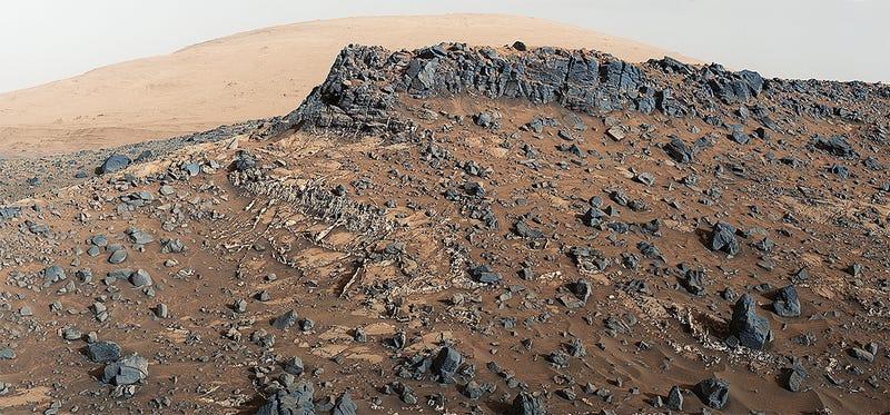 Illustration for article titled Marte nunca fue un vergel lleno de agua, ni siquiera cuando tenía atmósfera