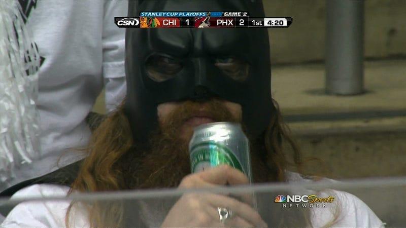 Illustration for article titled Bearded Batman Drinks Heineken, Probably Does Not Fight Crime