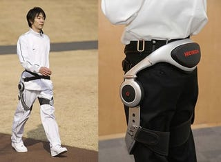 Illustration for article titled Honda's Assisted Walking Device Makes Grandma Strut Like Asimo