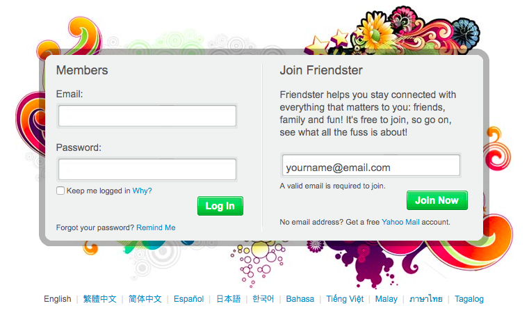 Friendster dating site