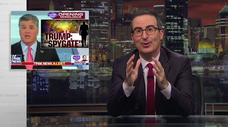 """Illustration for article titled In his """"Stupid Watergate"""" update, John Oliver warns of Trump going """"full O.J."""""""