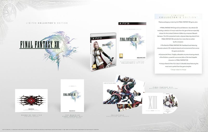 Illustration for article titled Final Fantasy XIII's PAL Collector's Edition Is Lovely
