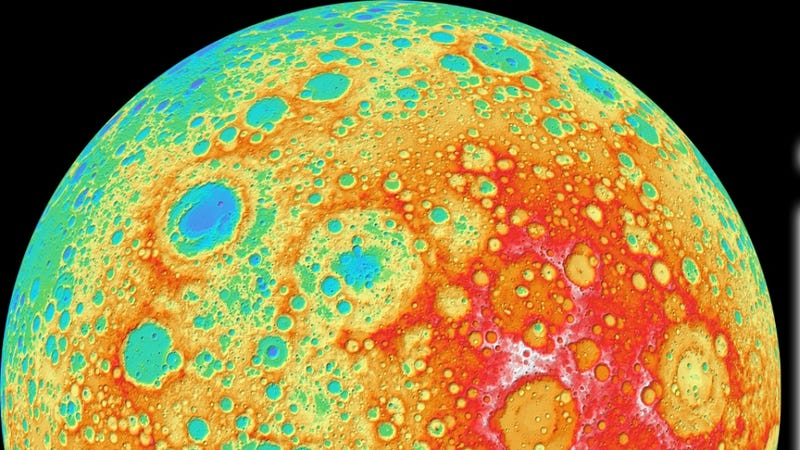 Illustration for article titled NASA releases the most detailed elevation map of the Moon ever