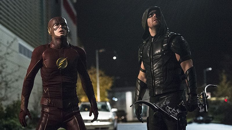 Grant Gustin, Stephen Amell/The CW