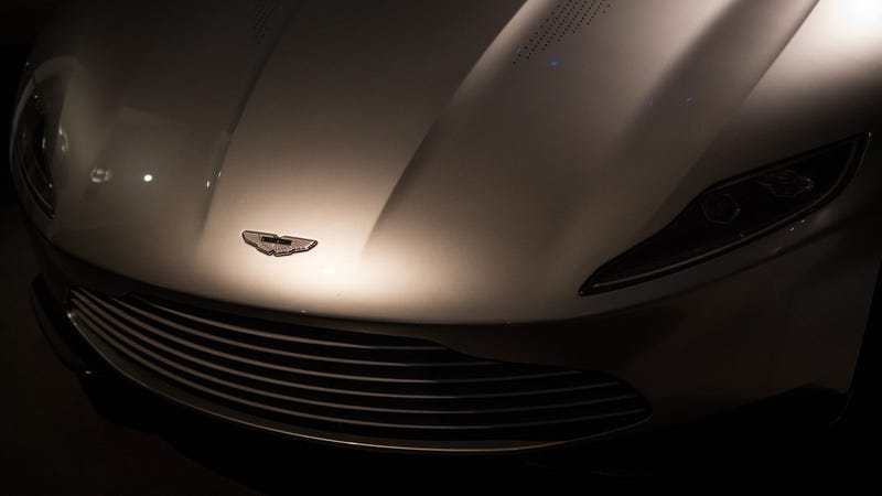 Aston, lurking in the shadows, ready to snatch up your best employees. (This is really a DB10 used in the James Bond film Spectre.) Photo credit: Rob Stothard/Getty Images