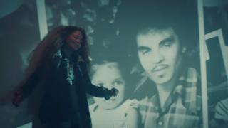 "Janet Jackson in her new music video, ""No Sleeep""YouTube screenshot"