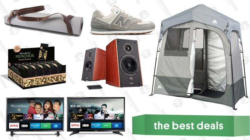 Illustration for article titled Thursday's Best Deals: Fire TVs, New Balance Sneakers, Luxury Tent, and More