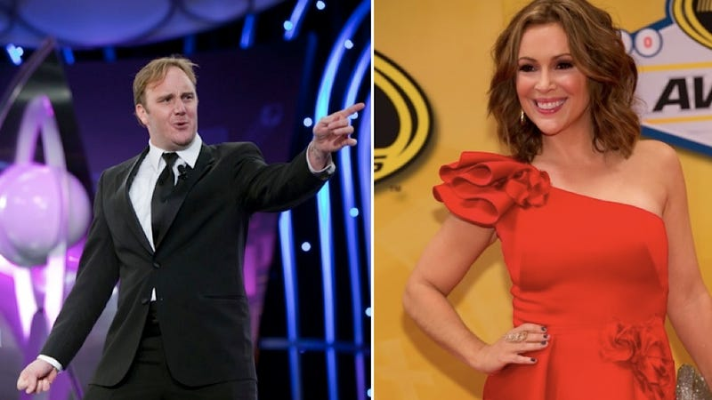 Illustration for article titled Alyssa Milano Douche-Shames Jay Mohr for Fat-Shaming Her