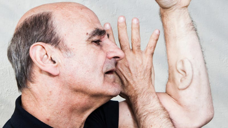 Illustration for article titled For Extreme Artist Stelarc, Body Mods Hint at Humans' Possible Future