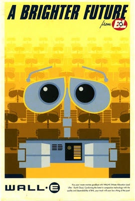 Illustration for article titled WALL-E Promo Postcards
