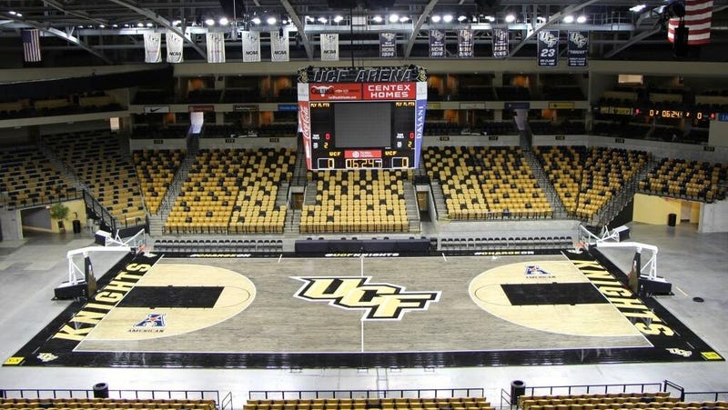 Illustration for article titled UCF Unveils Striking New Black-Stained Court