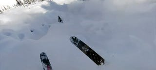 Illustration for article titled Avalanche smashes a skier in scary helmet cam video