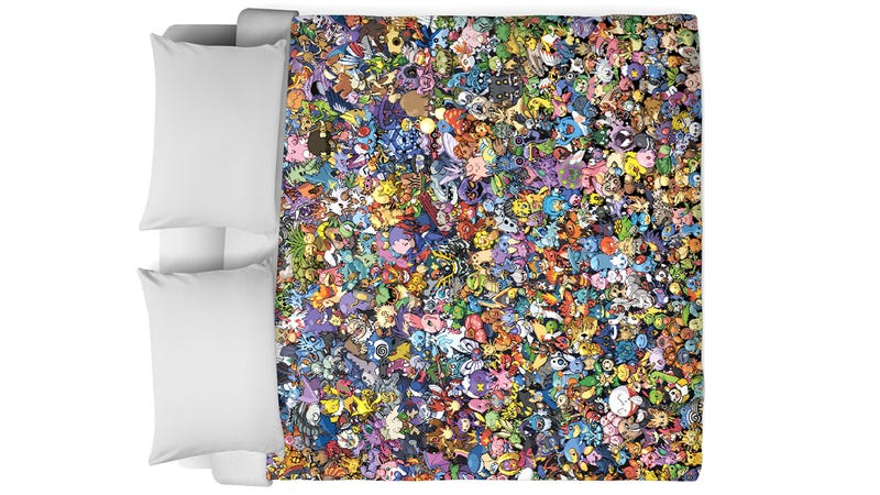 Illustration for article titled Can You Name All 721 Pokemon Squeezed Onto This Blinding Duvet Cover?