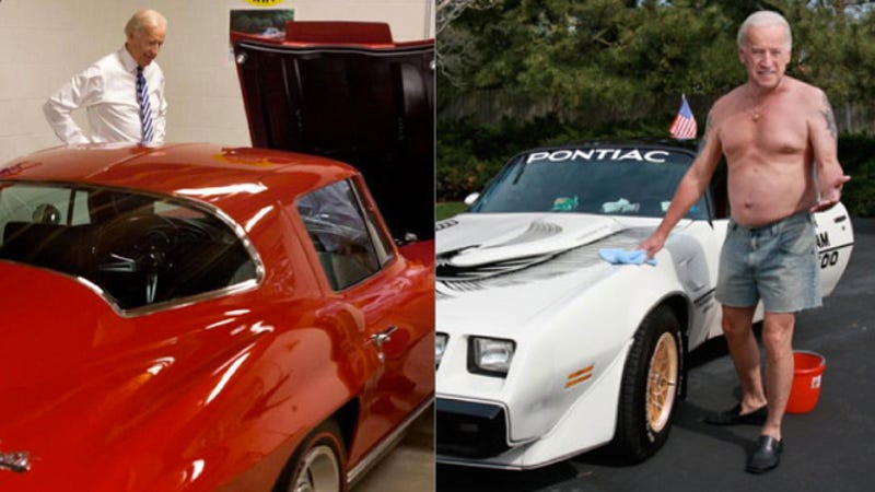 Illustration for article titled Real Joe Biden Calls Out Fake Joe Biden Over Corvette V. Trans-Am Love