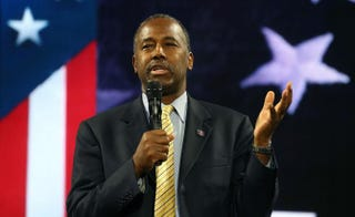 Republican presidential candidate Dr. Ben Carson Mark Wilson/Getty Images
