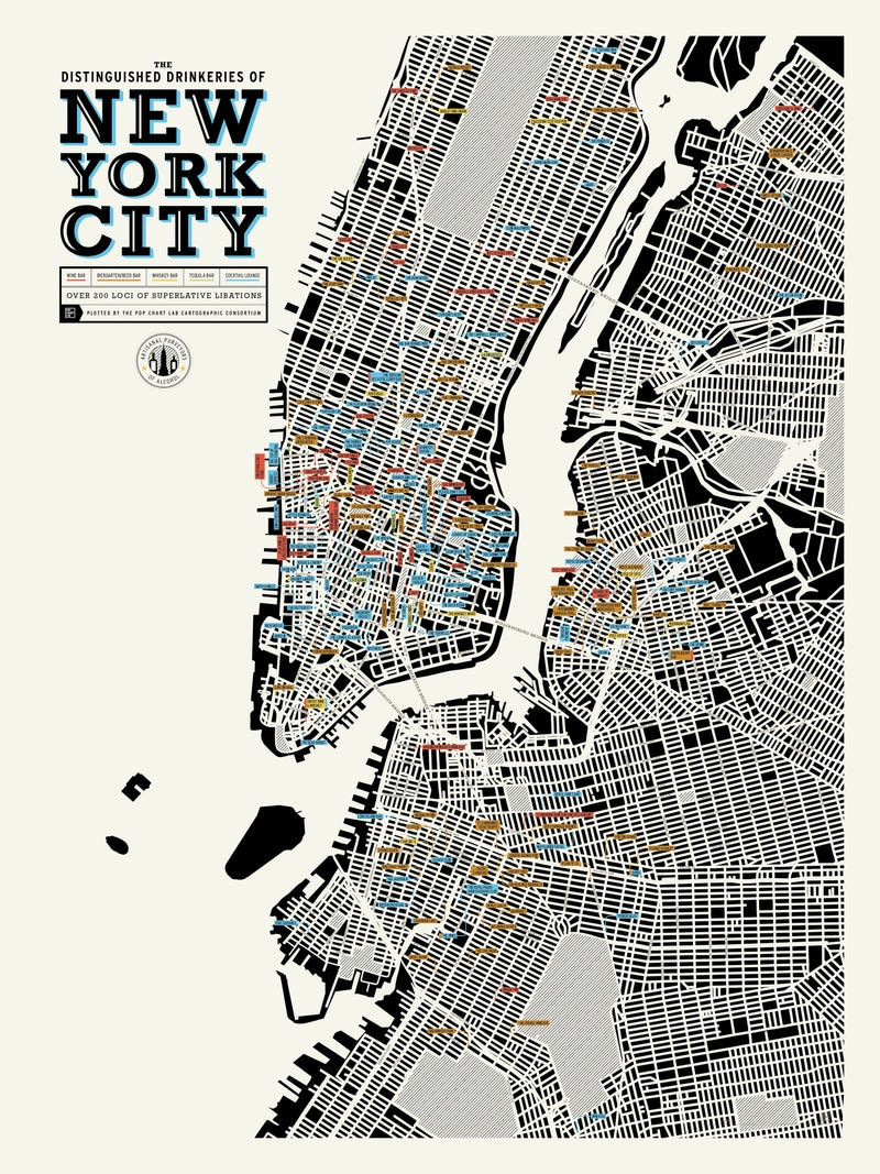 Illustration for article titled Map: Over 200 Bars In NYC Worth Drinking At