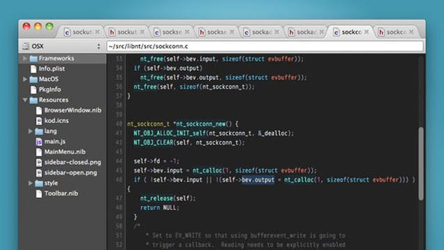Kod Is A Free Text Editor Designed For Programmers
