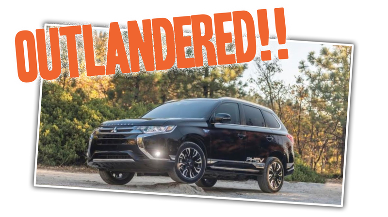 Illustration for article titled Mitsubishi Instagram Ad Shows The Outlander DOMINATING At Least Three Inches Of Rock