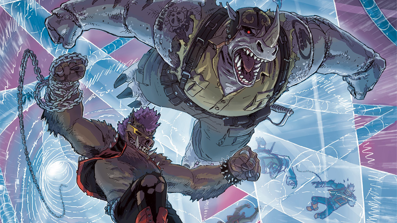 Bebop and Rocksteady Destroy Everything #1 Subscription Cover by Dustin Weaver