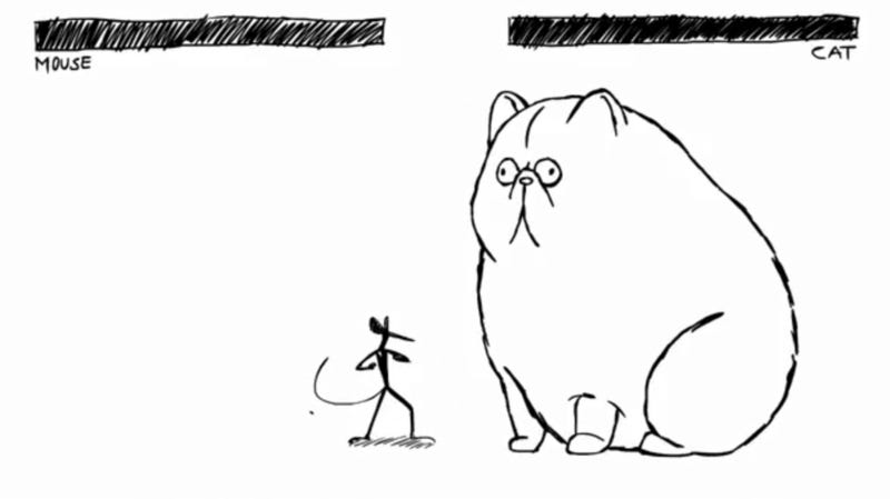Illustration for article titled Against A Giant Cat, No Amount Of Combos Can Save You
