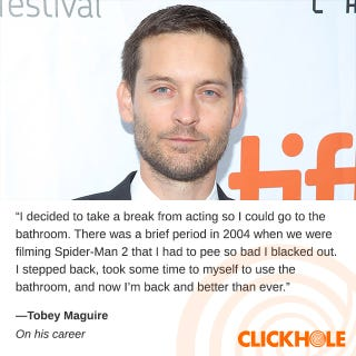 Illustration for article titled Tobey Maguire said WHAT?!