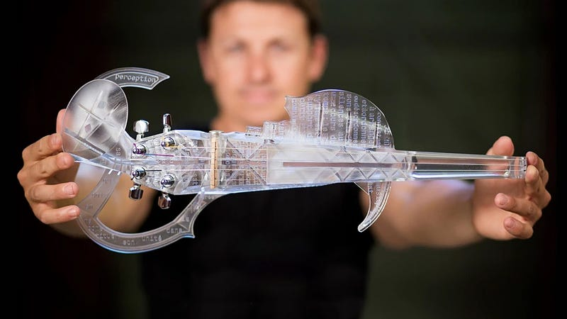 Illustration for article titled You Can Now Buy An Alien-Looking 3D-Printed Violin