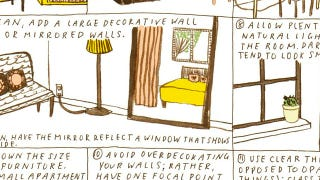 Illustration for article titled Make Any Room in Your Home Feel Bigger with a Little Paint, Some Mirrors, and Clear Objects