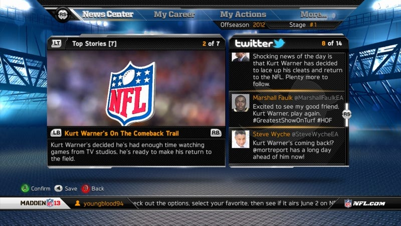 Illustration for article titled One Writer Must Impersonate 13 Twitter Accounts in Madden