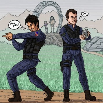 Illustration for article titled Stargate Atlantis Comic Promises Hot McKay 2D Action