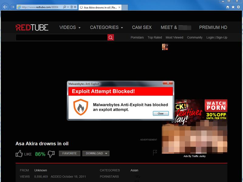 Porn site virus