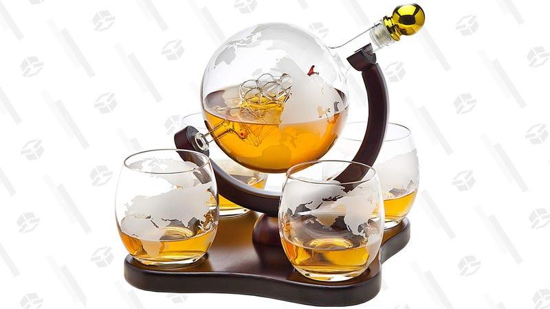 Godinger Globe Whiskey Decanter Set | $42 via 6GEHT6Y3 | Amazon