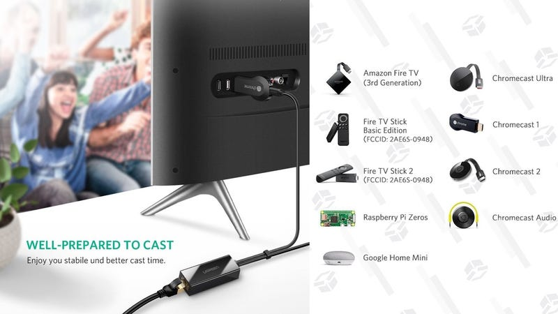 Ethernet Adapter for Chromecast/Fire TV/Google Home Mini | $13 | Amazon
