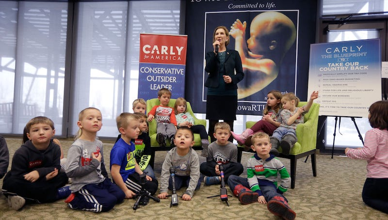 Illustration for article titled Carly Fiorina Hijacks Preschool Field Trip to Hold Anti-Abortion Rally