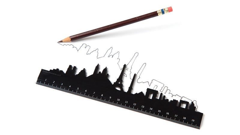 Illustration for article titled Draw a Straight Line or a Skyline With These Famous City Rulers
