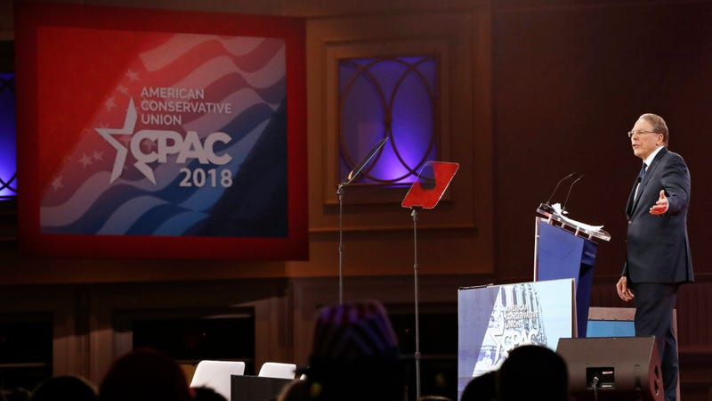 National Rifle Association Executive Vice President and CEO Wayne LaPierre at CPAC in February 2018.