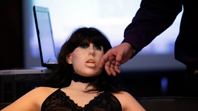 "A sex doll named ""Roxxxy"" on display at the Adult Entertainment Expo in Las Vegas in 2010. Photo: AP"