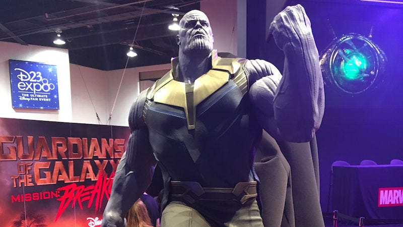 Disney revela el aspecto que tendrá Thanos en Avengers: Infinity War