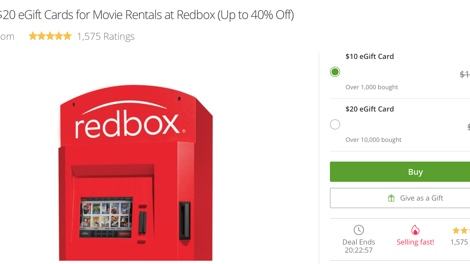 Save Up To 40 On Redbox Rentals With This Discounted Gift Card